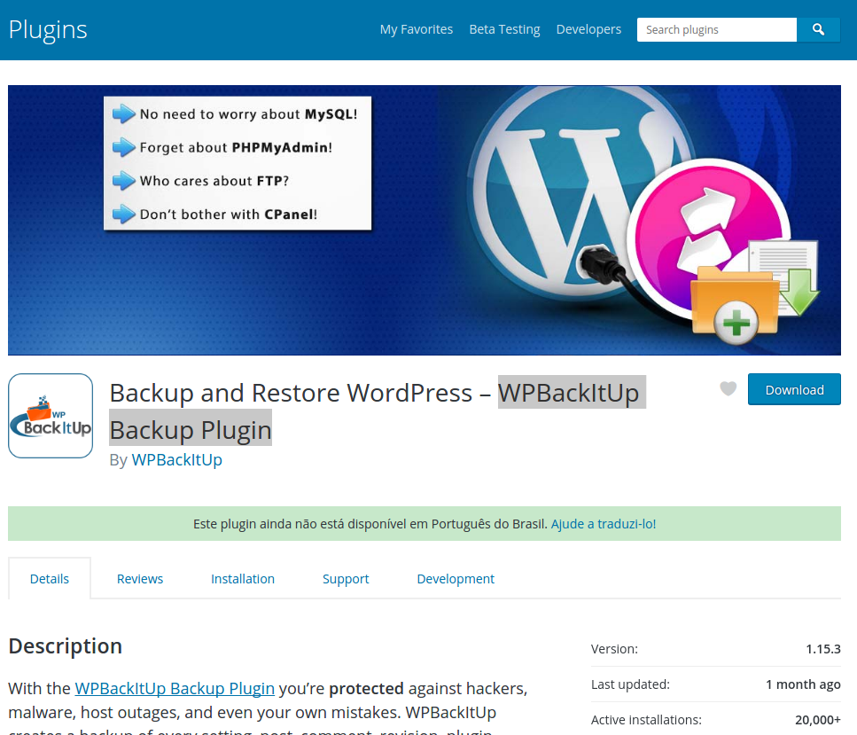 Plugin WPBackItUp Backup 1.15.3 – RCE – Unlink