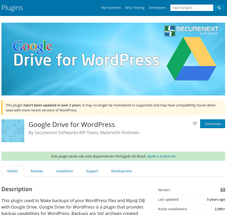 Plugin Google Drive for WordPress 2.2 – Arbitrary File Deletion – Unlik