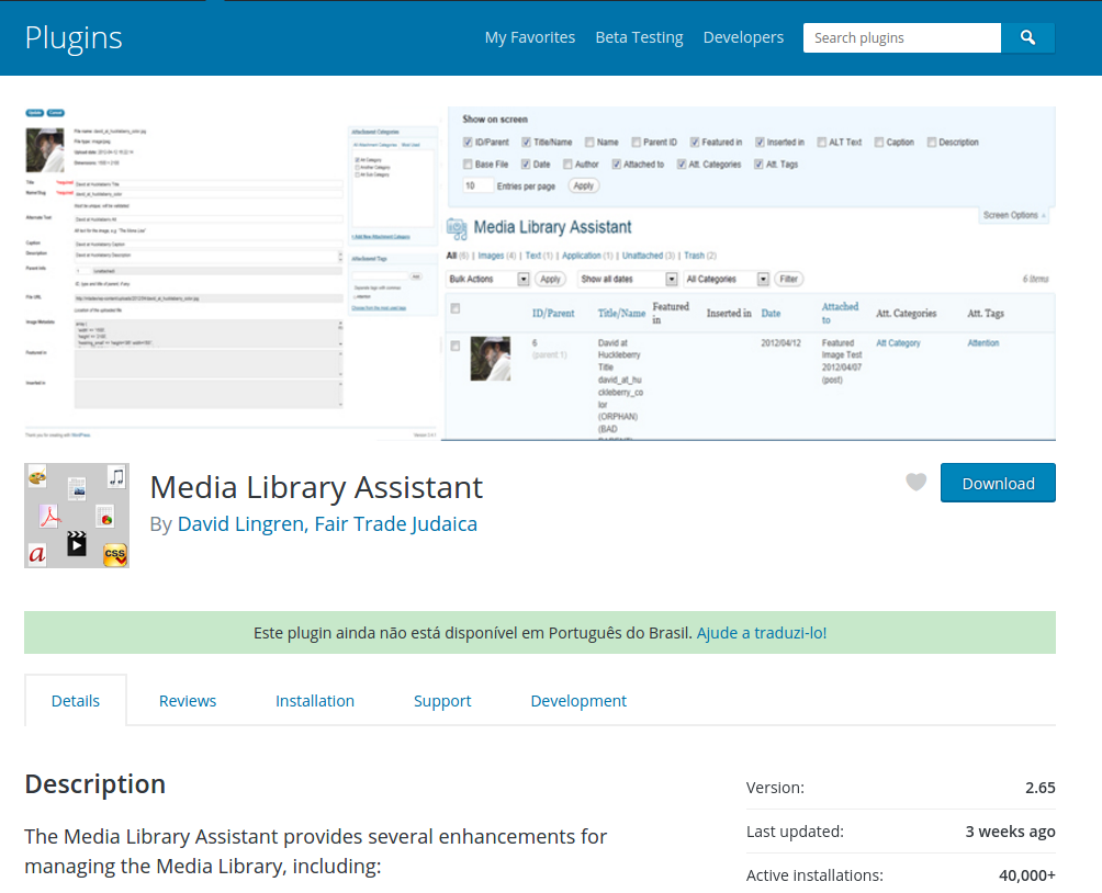 Plugin Media Library Assistant 2.65 RCE – Unlink / Local File Download